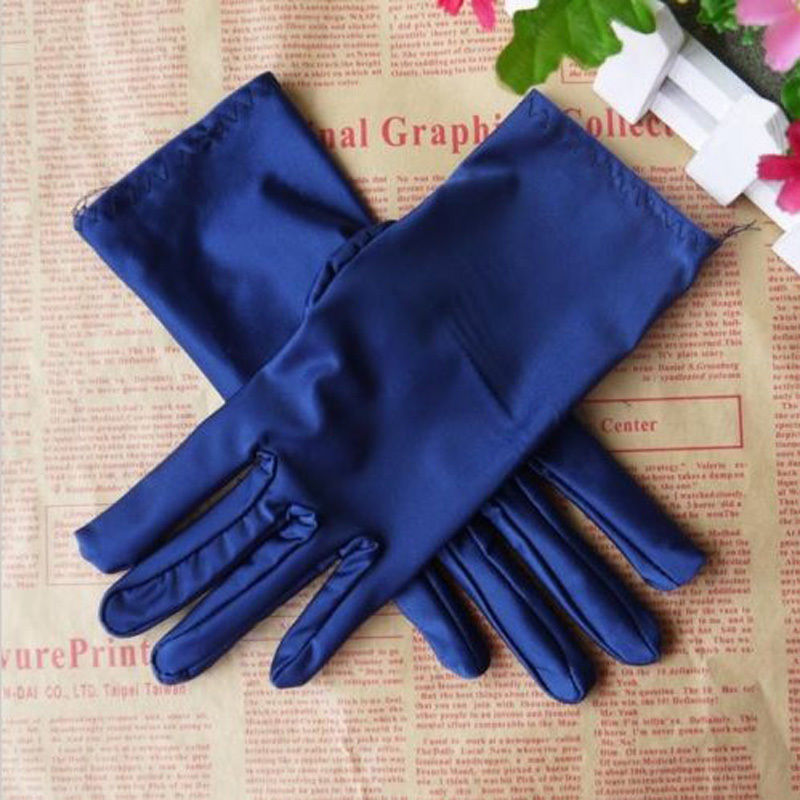 1Pcs Waterproof Winter Warm Gloves Evening Party Formal Prom Stretch Women Fashion Lady Girl Satin Dressy Gloves Accessories