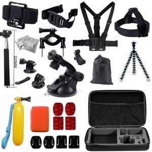 Gopro acessórios set go pro kit de montagem para SJ4000 Gopro hero 4 3 2 1 Black Edition SJCAM SJ5000 camera case xiaoyi peito tripé|for sj4000|gopro accessoriesgopro accessories set -