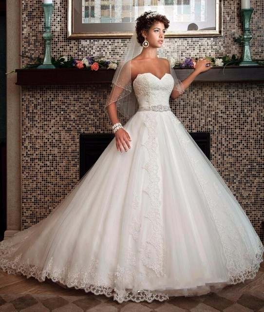 86e7e0a3eed Abito Da Sposa Plus size Wedding Dress Wedding Gown Robe de bal Lace Up  Back Russian Wedding Gowns Rustic Wedding Dresses