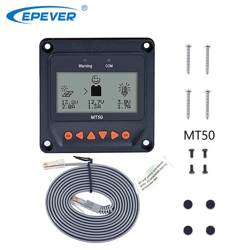 EPever Remote Meter MT-50 Für EPsolar Solar Controller LCD Display Geeignet für Tracer-EINE/BN Serie 10-100A MPPT solar Regulater