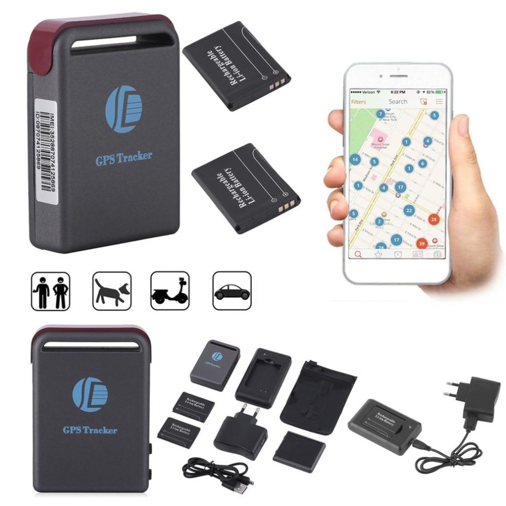 Portable Size Mini Precise GPS/GSM/GPRS Tracker GPS Transmitter Locating Spot Locator Car Auto Realtime Tracking Device EU Plug