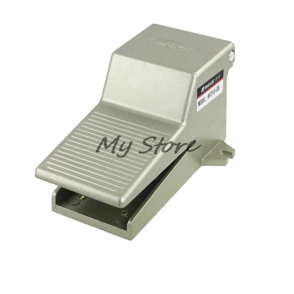 Foot Operated 5 Way 2 Position Direct Acting Pneumatic Pedal Valve 4F210-08 pneumatic foot valve pedal valve fv420 2 position 4 way