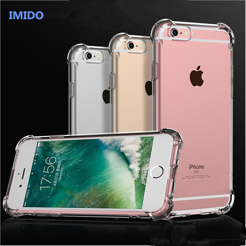 Airbag Super Anti-knock Shockproof Clear Soft Case For iphone X 7 8 Plus Silicone Luxury Cell Phone Case for iphone 6 6s Plus