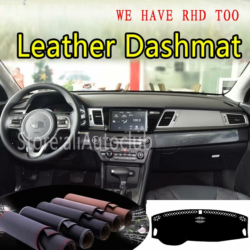 For Kia Niro 2016 2017 2018 2019 Leather Dashmat Dashboard