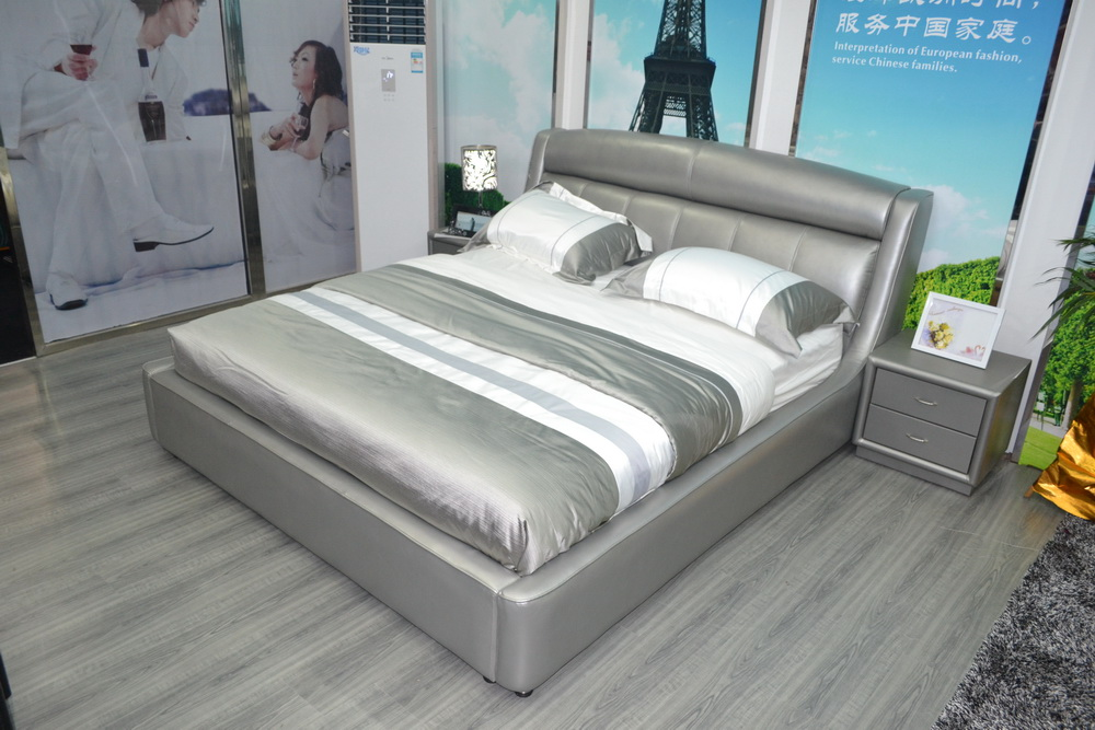 muebles genuine leather para casa soft bed hot sale special offer king no genuine leather bedroom