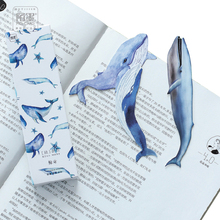 30Pcs/box Cute Whale paper bookmark stationery bookmarks DIY Book Marks For Kids Gift  Stationery