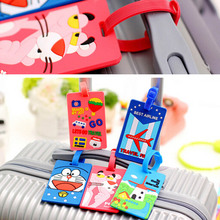 Silicone Cute Travel Luggage Label Straps Suitcase Name ID Address Tags Luggage Tags Airplane Travel Accessories 878803