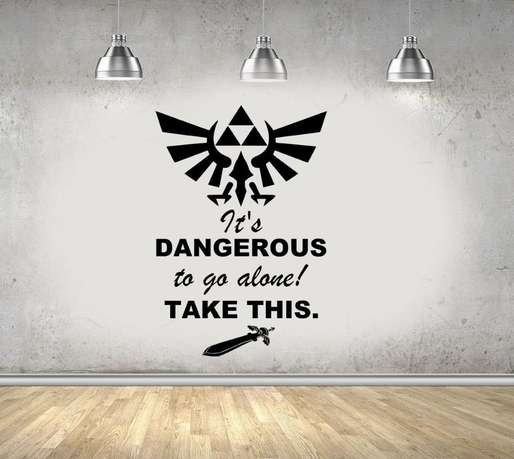 Legend Of Zelda Gaming Quote Vinyl Wall Art Stickers