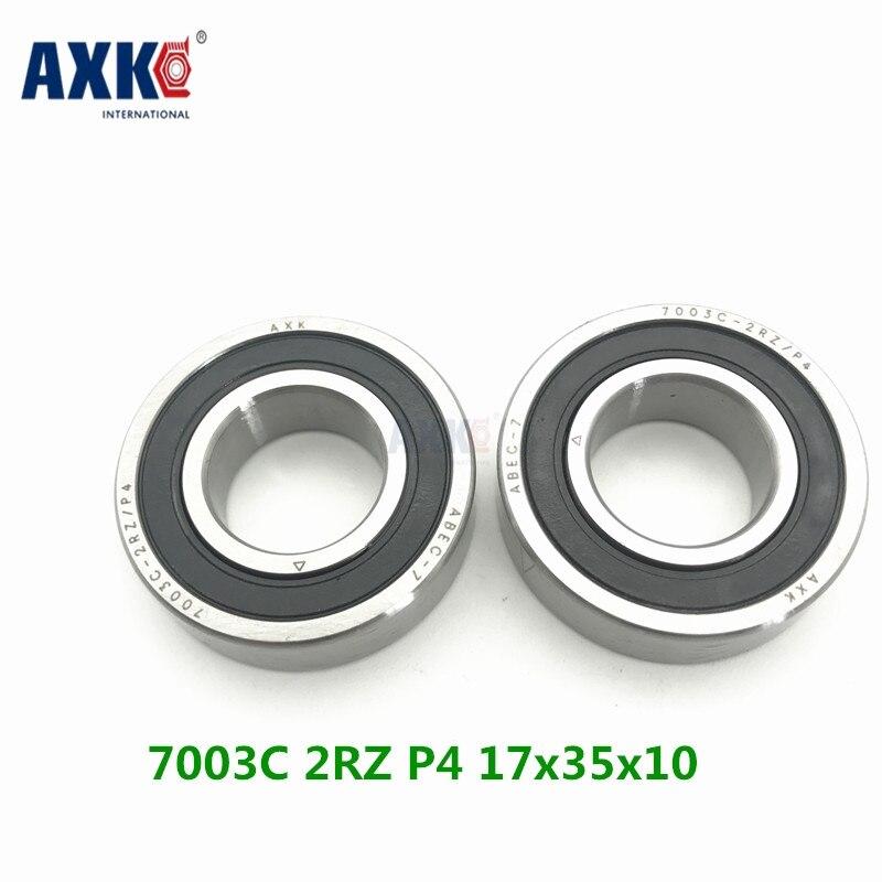 Axk 1pcs 7003 7003c 2rz P4 17x35x10 Sealed Angular Contact Bearings Speed Spindle Bearings Cnc Abec-7 original 7003 ac p5 angular contact ball bearings 17 35 10