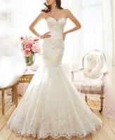 Sexy Tulle Strapless Trumpet Mermaid Wedding Dresses Beach Bridal Dress Vestidos de Noivas
