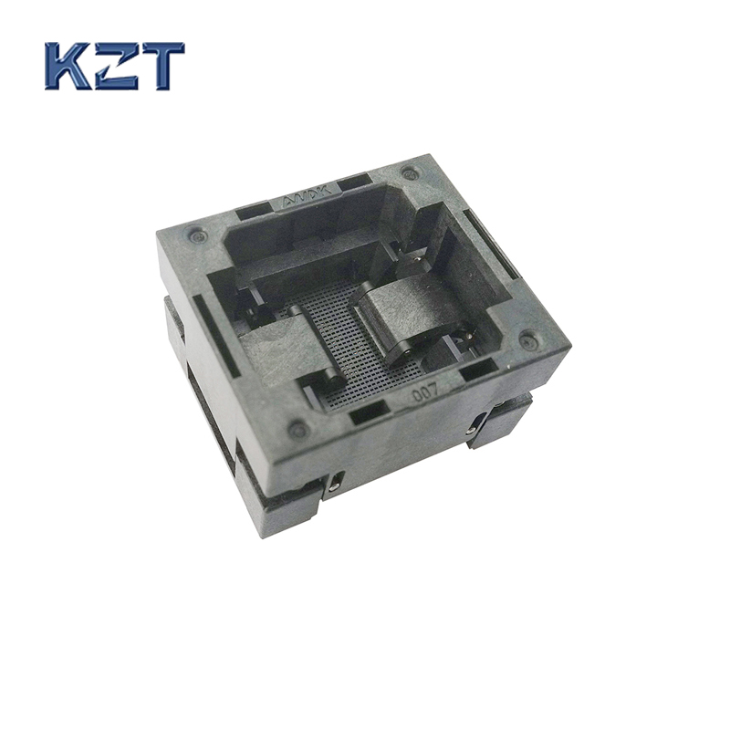BGA154 OPEN TOP burn in socket pitch 0.65mm IC size 8*10mm BGA154(8*10)-0.65-TP01NT BGA154 VFBGA154 burn in programmer socket bga80 open top burn in socket pitch 0 8mm ic size 7 9mm bga80 7 9 0 8 tp01nt bga80 vfbga80 burn in programmer socket