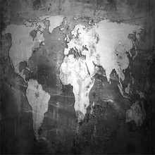 3D mural world map TV background wall professional production wholesale wallpaper poster photo