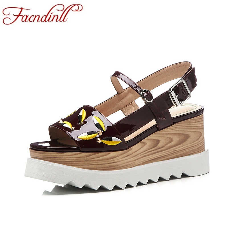 FACNDINLL fashion cow leather summer shoes 2018 new platform sandals ladies casual date shoes wedges dress party wedding facndinll new women summer sandals 2018 ladies summer wedges high heel fashion casual leather sandals platform date party shoes