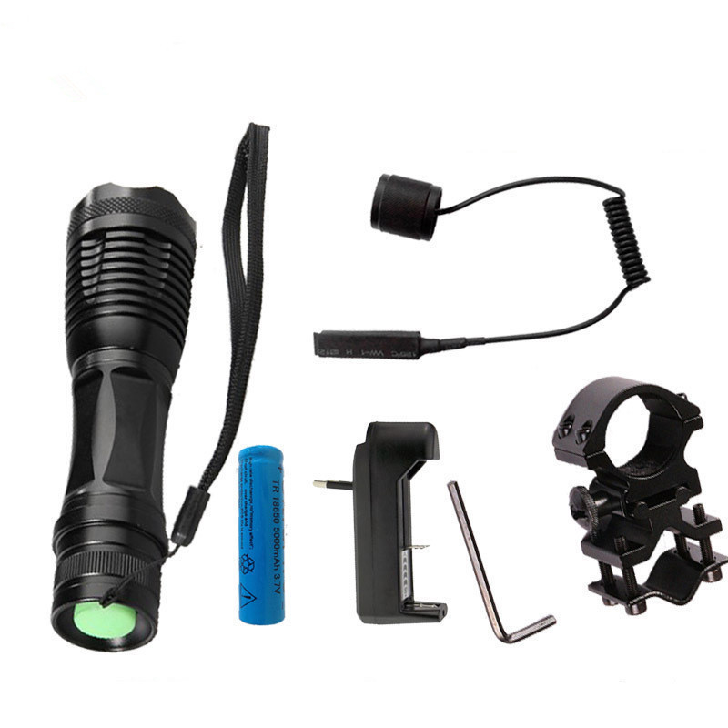 LED Tactical Flashlight 9000 Lumens CREE XM-L T6 Zoomable 5 Modes Aluminum Lanterna LED Torch Flashlights For Hunting sky wolf eye tactical flashlight zoomable 5000lm 5 modes cree xm l t6 led 18650 flashlight flashlights