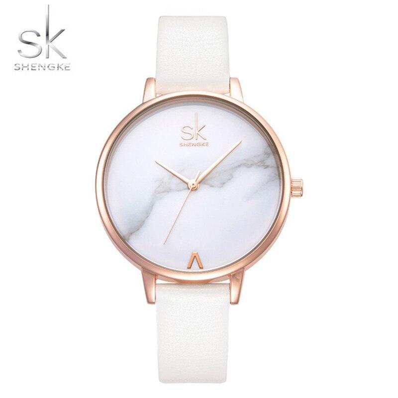 c2c6b104c2c Shengke 2018 Novas Mulheres Relógios de Moda Senhoras Pulseira de Couro  Relógio de Luxo de Genebra de Pulso de Quartzo Relógios para As Mulheres  Relogio ...