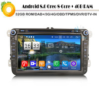 DAB+8 Core Android 8.0 Autoradio Car Radio Player WiFi 4G DVD GPS BT DVR OBD DVT for Volkswagen PASSAT GOLF Polo Magotan Vento
