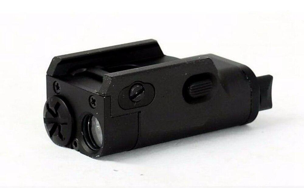 Alto Lumen Pistola MINI Luz Táctica Militar Airsoft Caza Linterna Utiliza En ht2