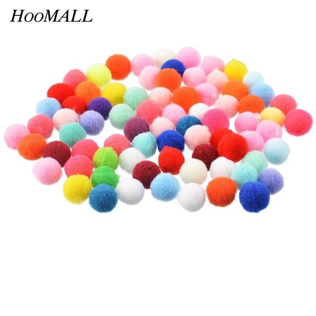 Hoomall 200 Unids Multi Color Pompón Bola Redonda 1 cm Artesanía BRICOLAJE Suave Pom Poms Decoración de La Boda de Scrapbooking DIY Accesorios