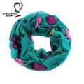 Nuevo estilo de moda viscosa letras y en forma de corazón patrón imprimir bufandas de la bufanda del otoño del resorte anillo de Infinity Loop bufanda