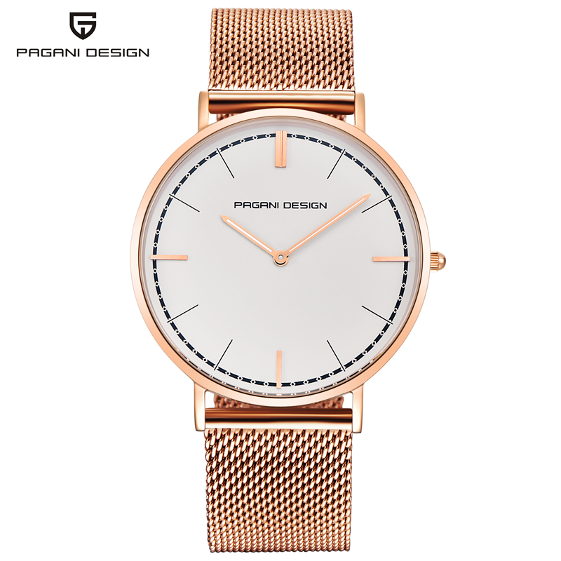 PAGANI DESIGN Herren Uhren Top Brand Luxus Wasserdicht Mode DW Stil Business Quarz Armbanduhr Gold Silber Dünne Zifferblatt Uhr-in Quarz-Uhren aus Uhren bei  Gruppe 1