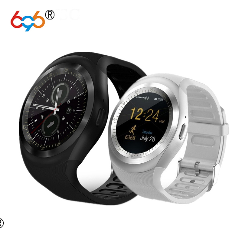 696 Y1 Smart Watch Round Screen Fitness Activity Tracker Sleep Monitor Pedometer Calories Track Support SIM Card