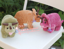 10 pieces a lot cute plush rhinoceros toys lovely small colourful rhinoceros dolls gift about 20cm 391