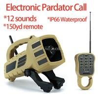 IP66 Waterproof Electronic Pardator Calls Lure 12 Sounds Forest Wild Animal Howls Caller IP66 Jackarbbit Hunting Decoy Calls