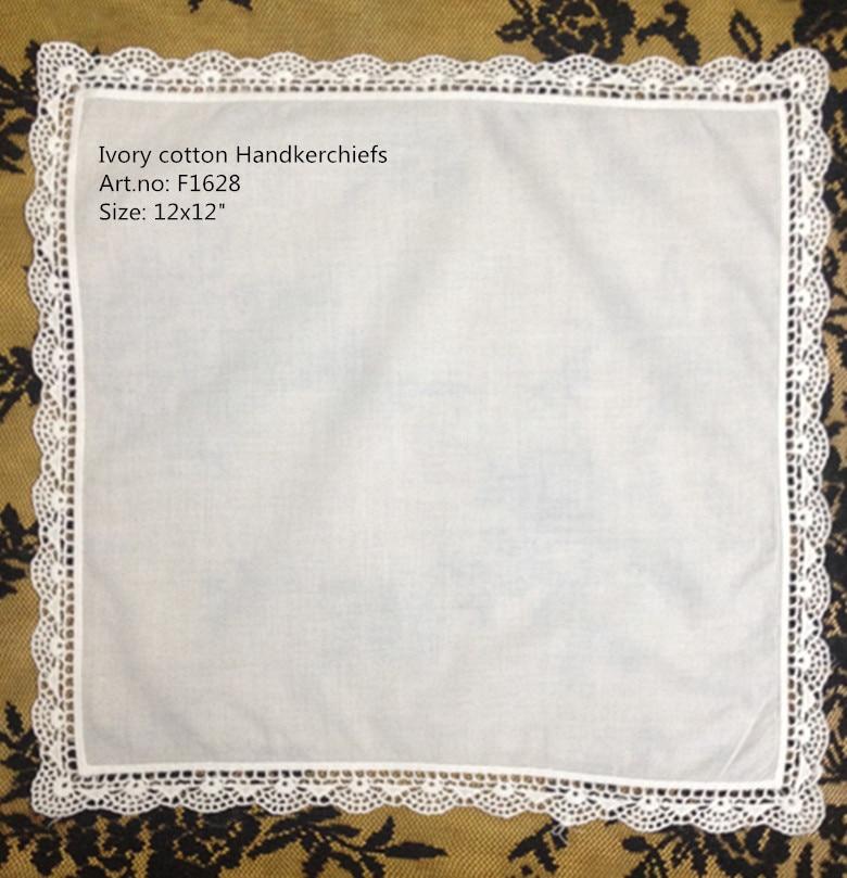 Set Of 12 Fashion Ladie Handkerchchiefs 12-inch Vintage Shell Lace Hankies Sweet Heart Hanky Wedding Handkerchief For Bride