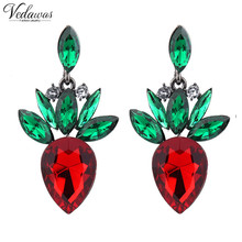 Vedawas 2016 New Arrival Statement Crystal Shourouk Stud Earrings for Women Fashion Party Earring Accessory wholesale 1194