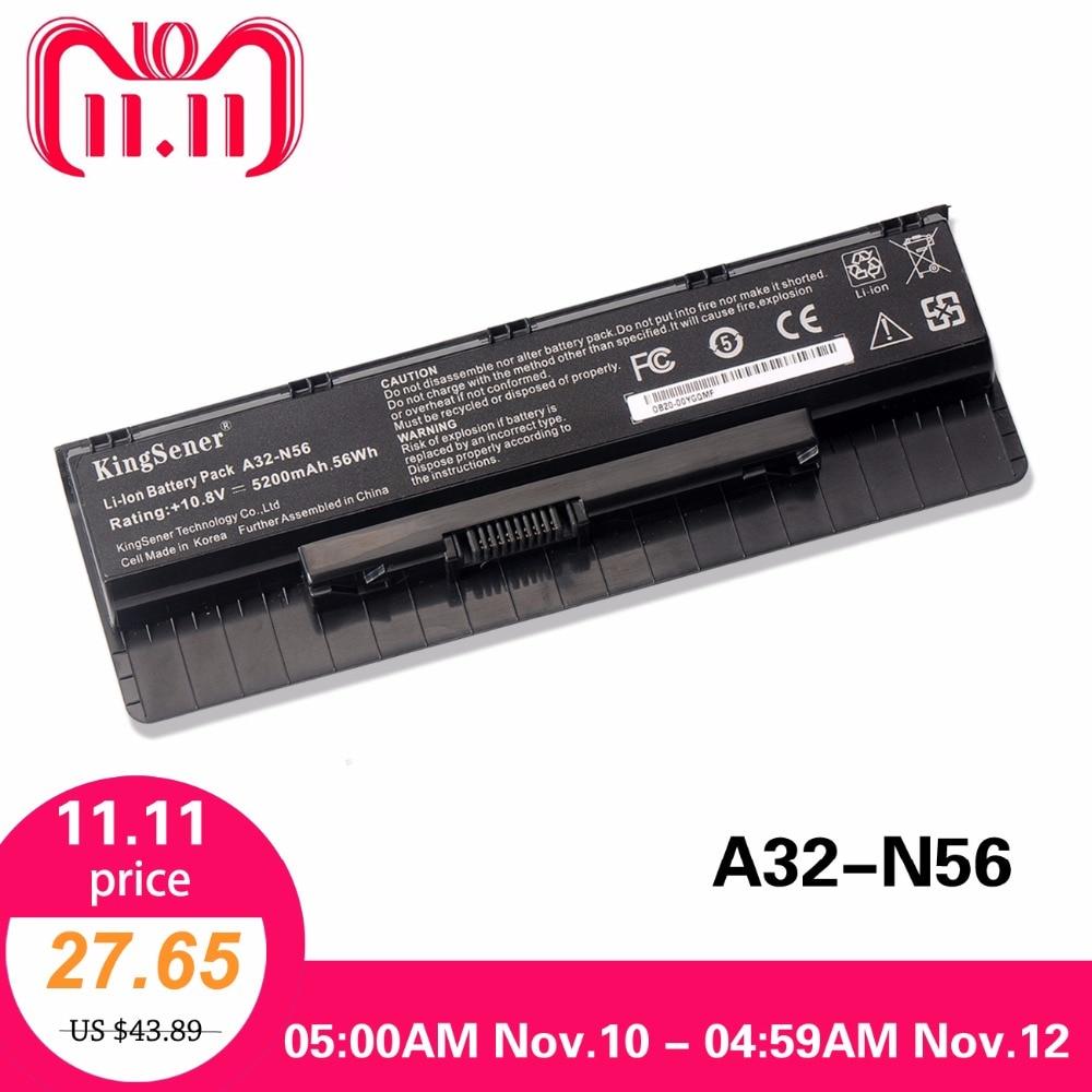 10.8V 5200mAh Korea Cell New A32-N56 Battery for ASUS N46 N46V N46VJ N46VM N46VZ N56 N56V N56VJ N56VM N76 N76VZ A31-N56 A33-N56 все цены