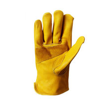 New Men's Work Driver Gloves Cowhide Leather Security Protection Wear Safety Working Climbing Outdoor Sports Gloves For Men