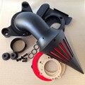 Reposição frete grátis peças do motor de Spike Air Cleaner filtro para Harley Davidson 2008-2012 TOURING FLHTC Deslize Da Rua Preta