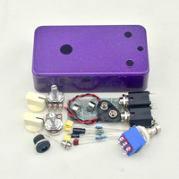Vintage Fuzz Face DIY Guitar Pedal Kit With Germanium AC128 Transistors And 1590B Pre Drilled Enclosure