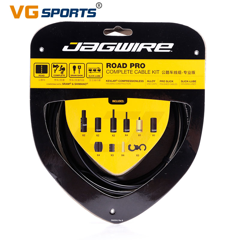 VG sports New 2018 JAGWIRE RACER ROAD PRO Road Pro Complete cable kit brake cable sets