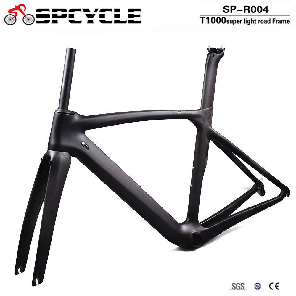 Spcycle T1000 Full Carbon Road Bike Frame Direct Mount Brake Racing Bicycle Carbon Frameset With Headset