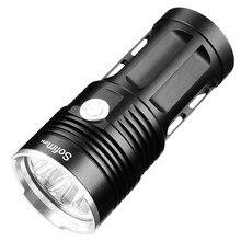 14 * XML T6 Mạnh Mẽ LED Đèn Pin 18650 LED Torch ánh sáng 18650 đèn pin chiến thuật Tìm Kiếm Ánh 5 chế độ linterna săn cắm trại