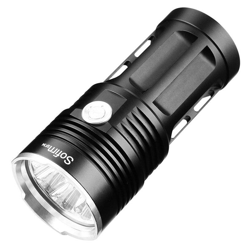 14 * XML T6 Potente Torcia A LED 18650 LED luce Della Torcia 18650 torcia tattica Searchlight 5 modalità linterna campeggio di caccia