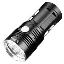 كشاف ضوئي LED قوي 14 * XML T6 18650 مصباح LED 18650 كشاف ضوئي تكتيكي 5 أوضاع كشاف صيد التخييم