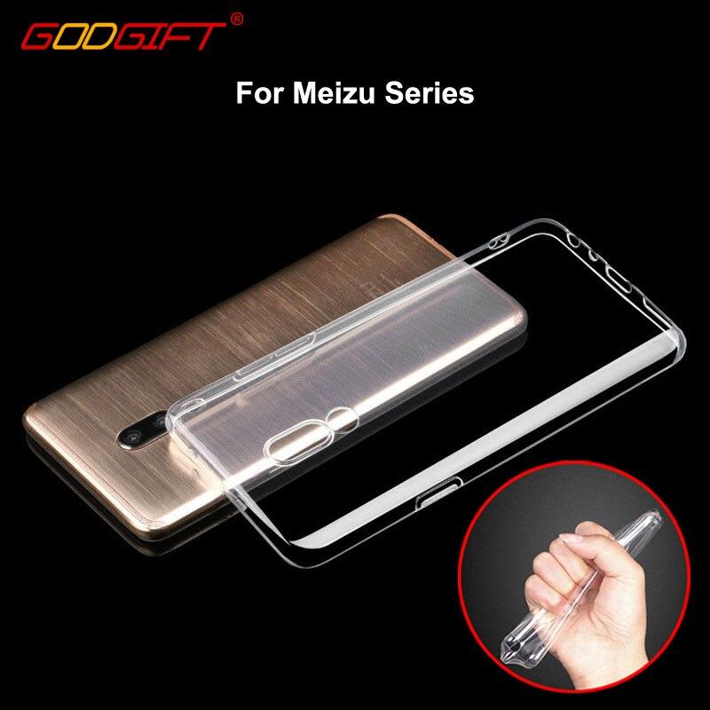 GodGift Meizu 16 Case Luxury Meizu V8 Pro Soft Silicone Cover For Meizu 16X 16th 16 th Plus X8 V8 Pro m3s Phone Case Back Cover