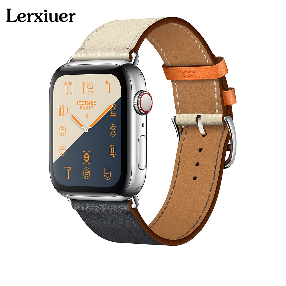 Leather single tour strap for apple watch Hermes 4 band 44mm 40mm 42mm 38mm watchband wrist bracelet belt iwatch series 4/3/2/1 цена