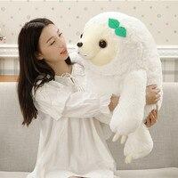 27 70cm White Color Big Size New Arrived Sloth Plush Toy Sloth Soft Stuffed Doll Cute Sloth Plush Gift Simulation Sloth Doll