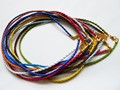 "10pcs/lot Gold Braided Necklace Leather Cords 3mm With Lobster Clasp 14-30"" DIY Jewelry Findings Mixed Colors"