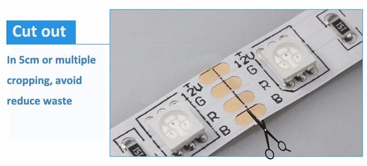 RiRi won SMD5050 RGB LED Strip Light 5M 10M 30Leds/m DC 12V tape ribbon diode flexible waterproof 44keys Controller adapter set