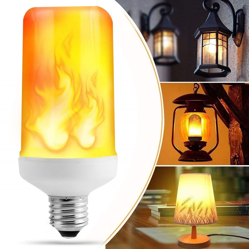 E14 E27 B22 Led Flame Lamp 110V Fire Effect Light Bulb 220V 9W 12W Led Fire Bulb Effect Flickering Emulation Flame Light Lampada