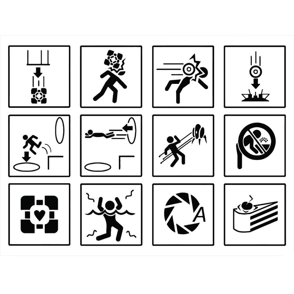 Портал Предупреждение знаки Книги по искусству ткани плакат 13x13 декор 02
