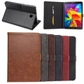 Luxury Flip Retro Leather Book Cover Case For Samsung Galaxy Tab A 9.7 T550 SM-T555 Stand With Card Holders Sm-T550 Smart Case