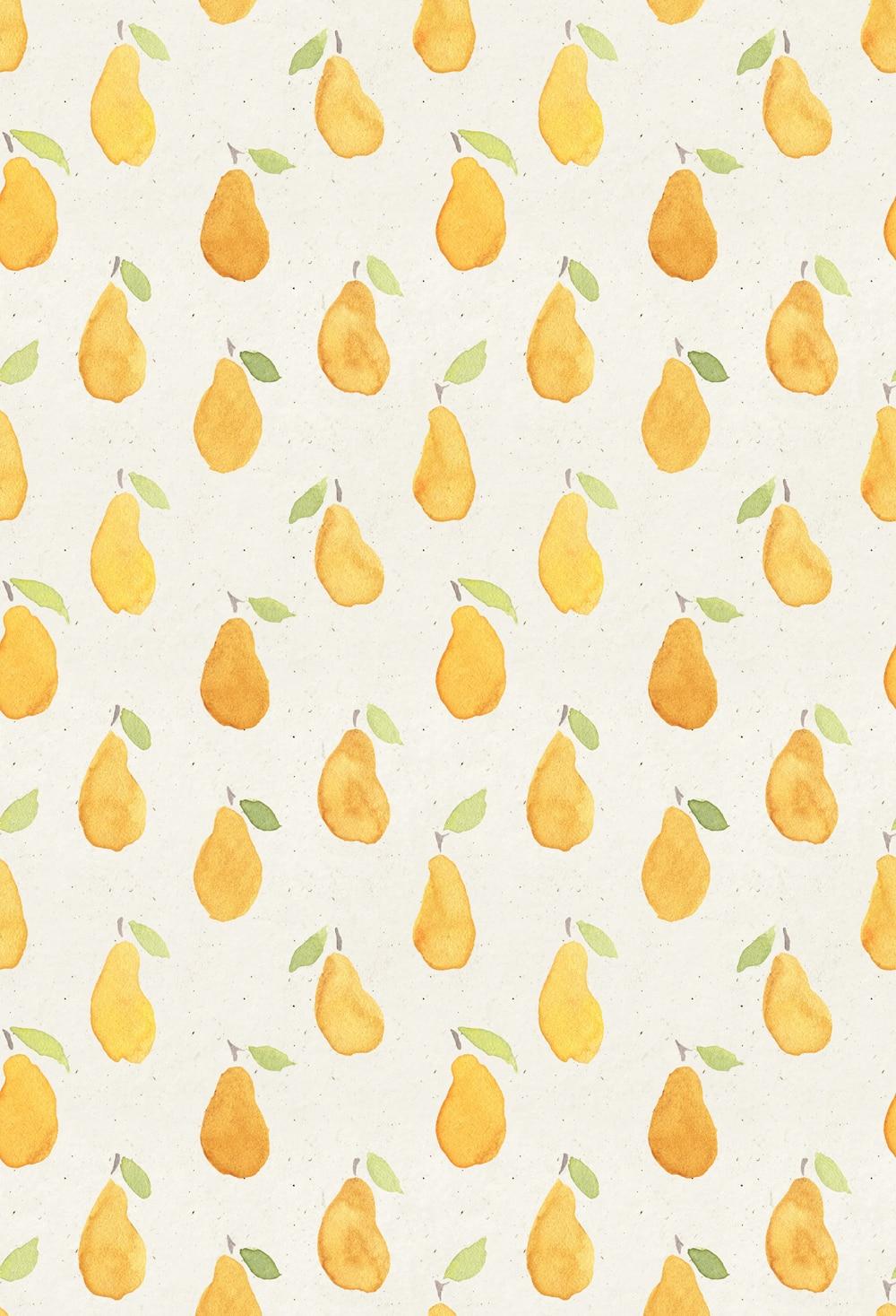 ٩(^‿^)۶Envío libre amarillo pera fruta pared fotografía telones de ...