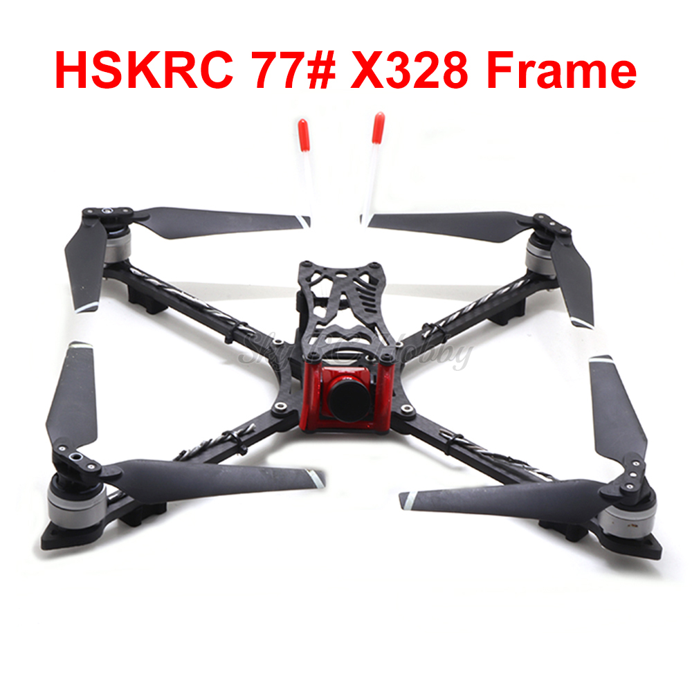 HSKRC 77# X328 328mm Full Carbon Fiber FPV Racing Quadcopter Frame Kit With 5mm Arm Support 8 Inch 8330 Propeller