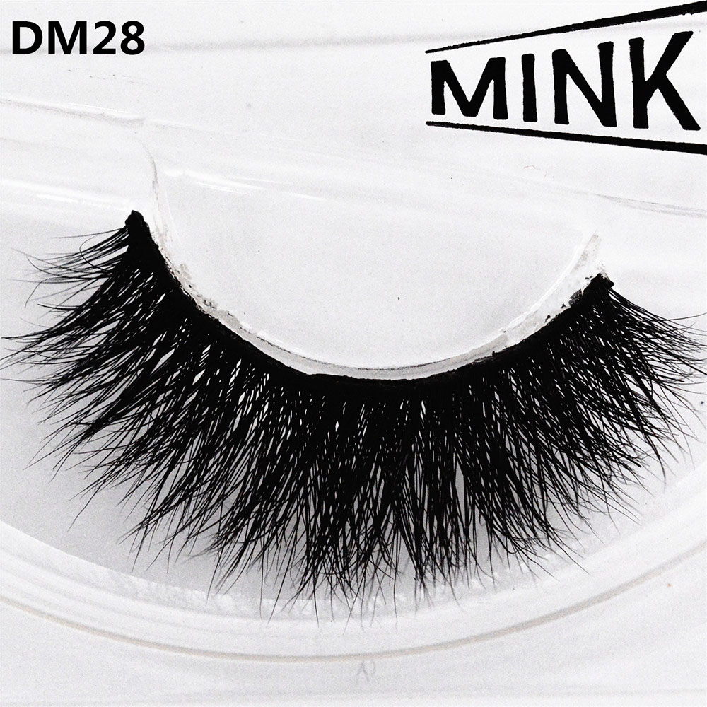 100% Mink Hair 3D False Eyelashes Hand-made Thick Messy Sexy Curling Natural Long Charming Big Eyes Make-up Extension Tools DM28