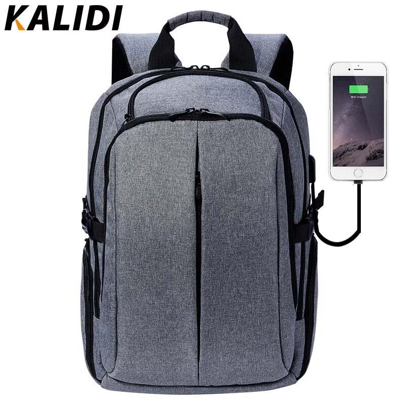 KALIDI Men Laptop Bag Backpack 17 inch Business Travel Multifunction Fashion Black Notebook Laptop Bag for 15.6 inch School Bag